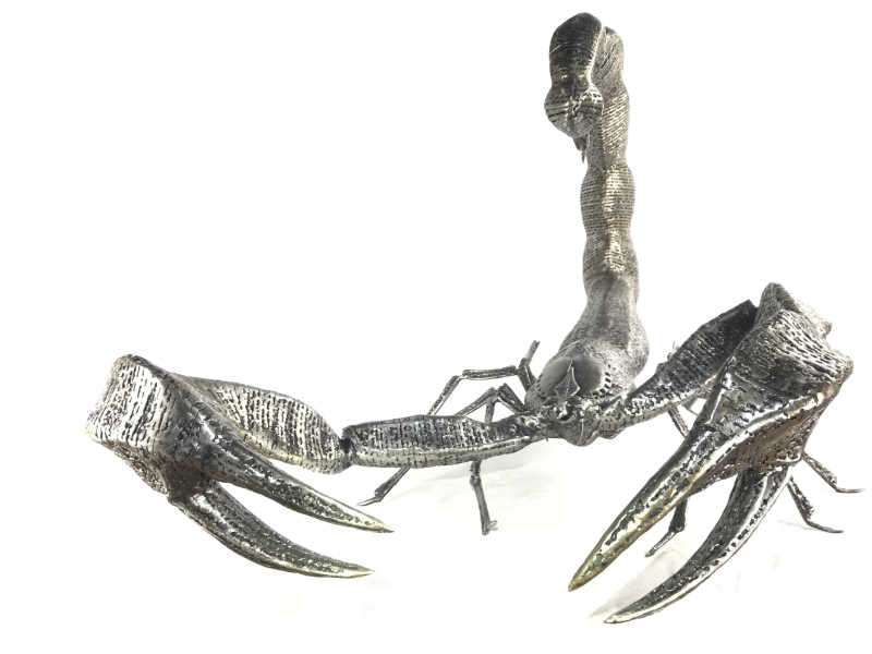 Scorpion scarier than in real life !! Large size sculpture entirely in metal (unique piece)