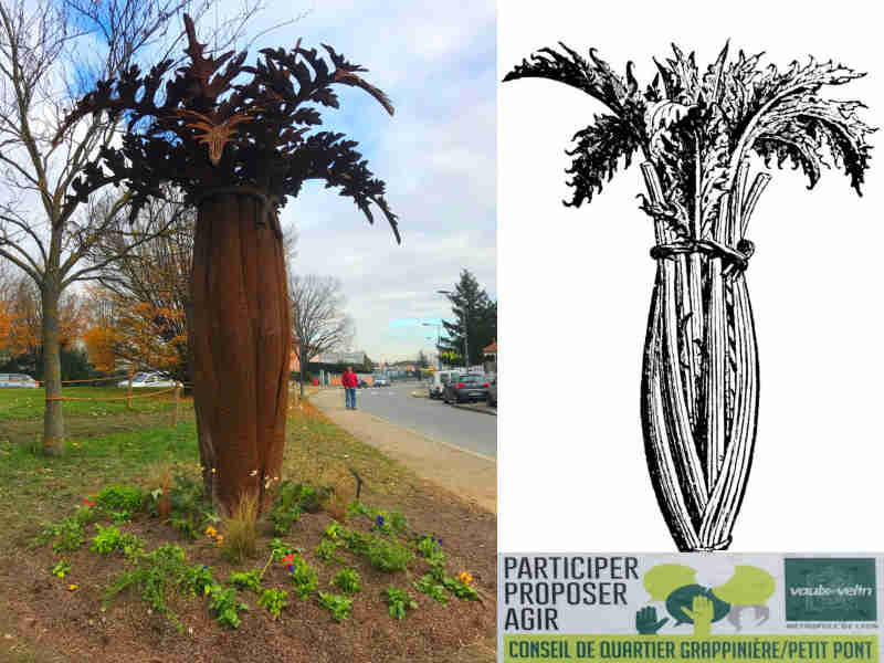 Cardoon in Culture - Monumental Sculpture ordered by Vaulx-En-Velin near Lyon(69) for the entrance of the town (Cardoon capital of the world).