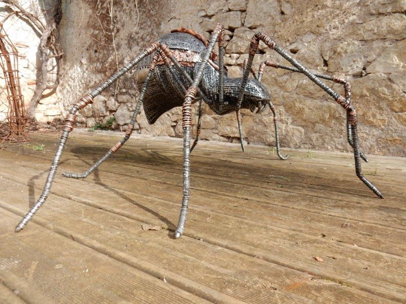 Sculpture of a Spider in metal | Patrick Médéric